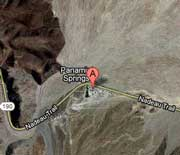Map to Panamint Springs